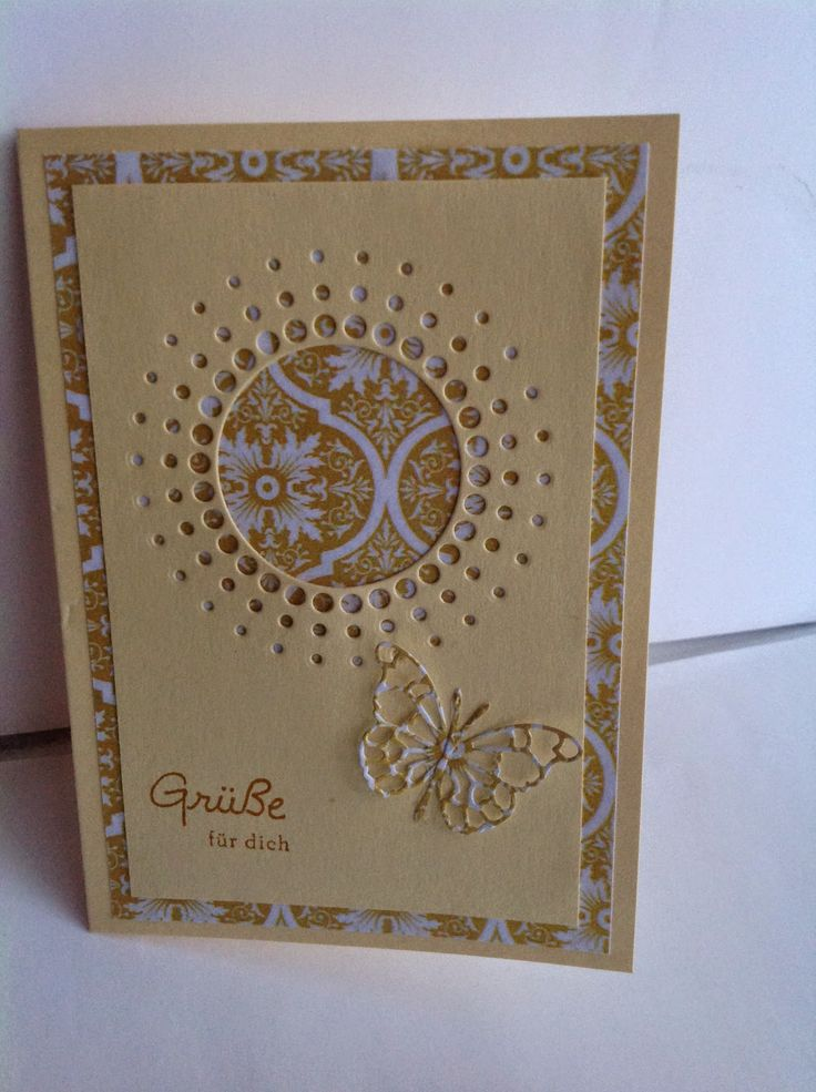 handmade greeting card from KreativTine ... monochromatic kraft ... negative space die cut ... luv the layering that makes a wide mat and fills the negative space ...