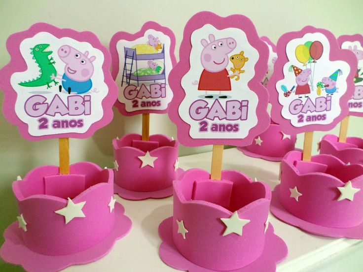 Cumpleaños Peppa, Parties, Ideas Para, Party, Centers, De Peppa ...