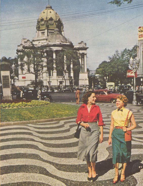 O Palácio Monroe (hoje demolido) nos anos 50.