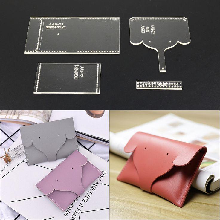 Artisanat cuir bricolage femmes sac à most important sac à dos sac clé de stockage motif de couture papier Kraft dur pochoir modèle 40x160x60mm