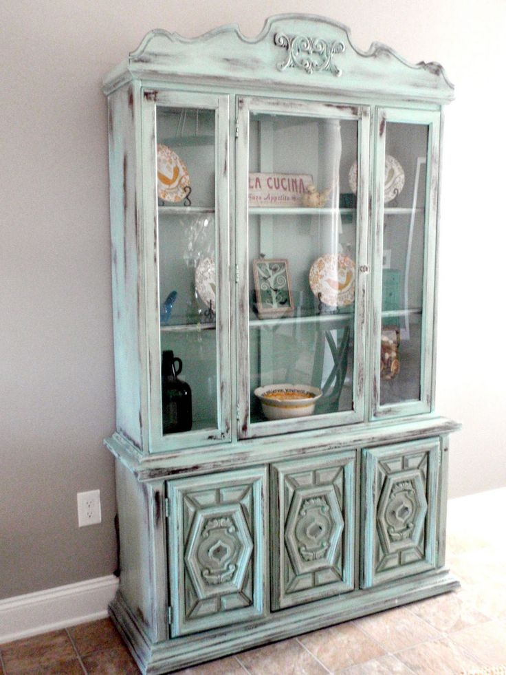 Rustic Armoire Makeover Dining Rooms