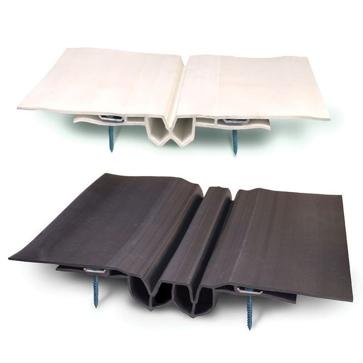 Roof expansion joint, RoofJoint, is a patented dual-seal, double-flanged, extruded thermoplastic rubber system for sealing expansion joints in roofs.