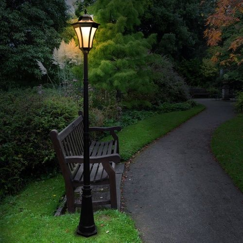 4 Foot Outdoor Solar Powered Lamp Post With: 17 Best Lamp Post Ideas On Pinterest