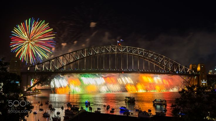 Sydney New Year Eve Fireworks Show by MohdEzairi