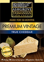 Premium Vintage Made using traditional Cheddaring techniques then aged for a minimum of 18 months to 2 years resulting in a superior strength of flavour and character.