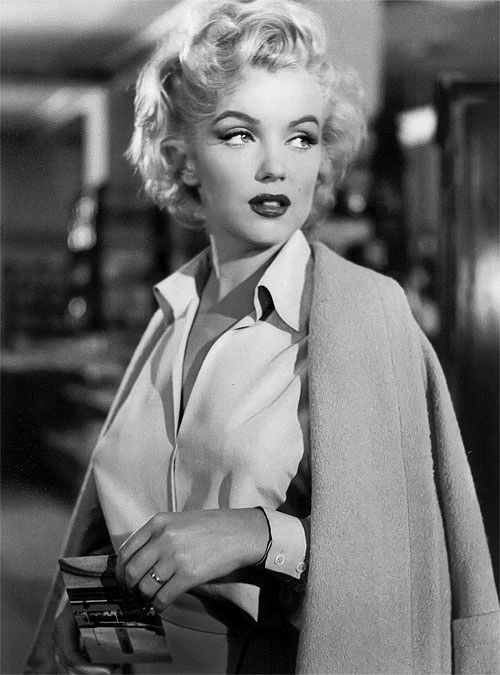 pretty Black and White beautiful gorgeous vintage Model Grunge marilyn monroe icon