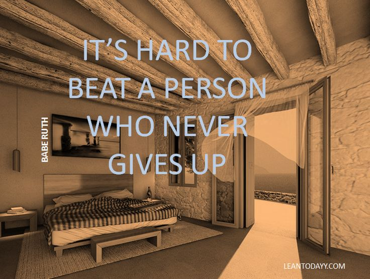 Never give up ...
