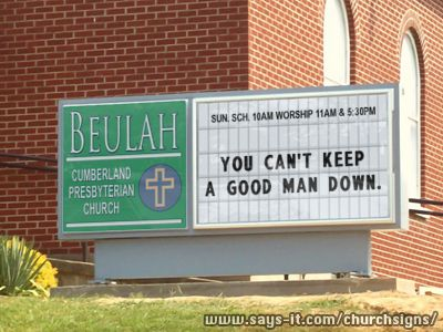 Funny Easter church sign