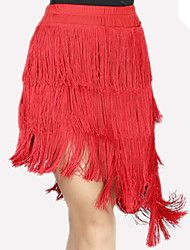 Baile Latino Pantalones y Faldas Mujer Representación Espándex Poliéster 1 Pieza Falda