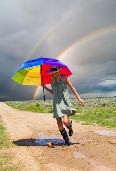 It's always a good idea to be prepared to make your own rainbows when clouds bring rain into your life