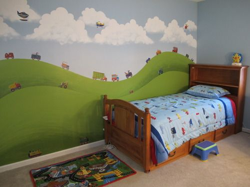 Customer Image Gallery for RoomMates Repositionable Childrens Wall Stickers, Transport