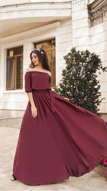baa7de44794 Бордовое платье в пол