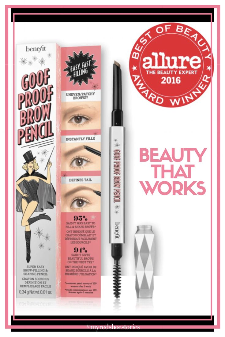 goof proof eyebrow pencil super easy brow-filling & shaping pencil #affiliate #benefitcosmetics #eyebrows #pencil #beautythatworks #myredshoestories