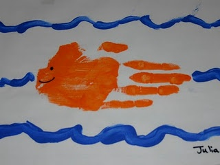 Letter F Fish [Monthly Handprint Ideas]