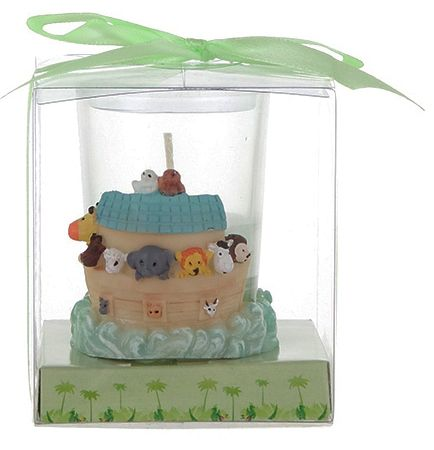 Noah's Ark theme candle - Price goes down to $1.69 for larger quantities!