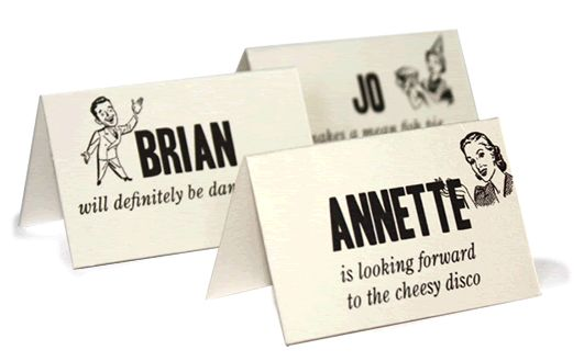 funny placecards -molly