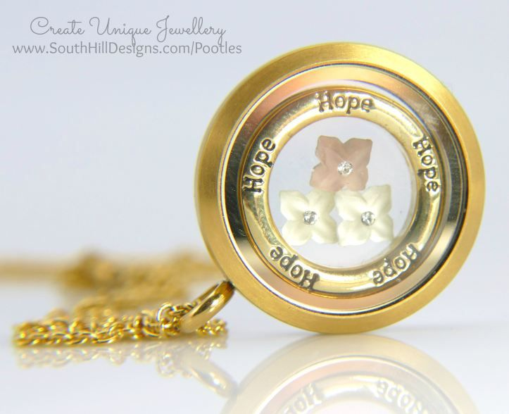 South Hill Designs - Autumnal Look Extended Gold Matte Locket