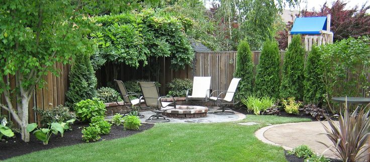 Simple Landscaping Ideas For A Small Space | Small yard ... on Small Backyard Garden Design id=38073