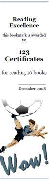 Printable soccer bookmarks, soccer bookmark awards, sports bookmark maker, sports theme reading awards; 100% customizable