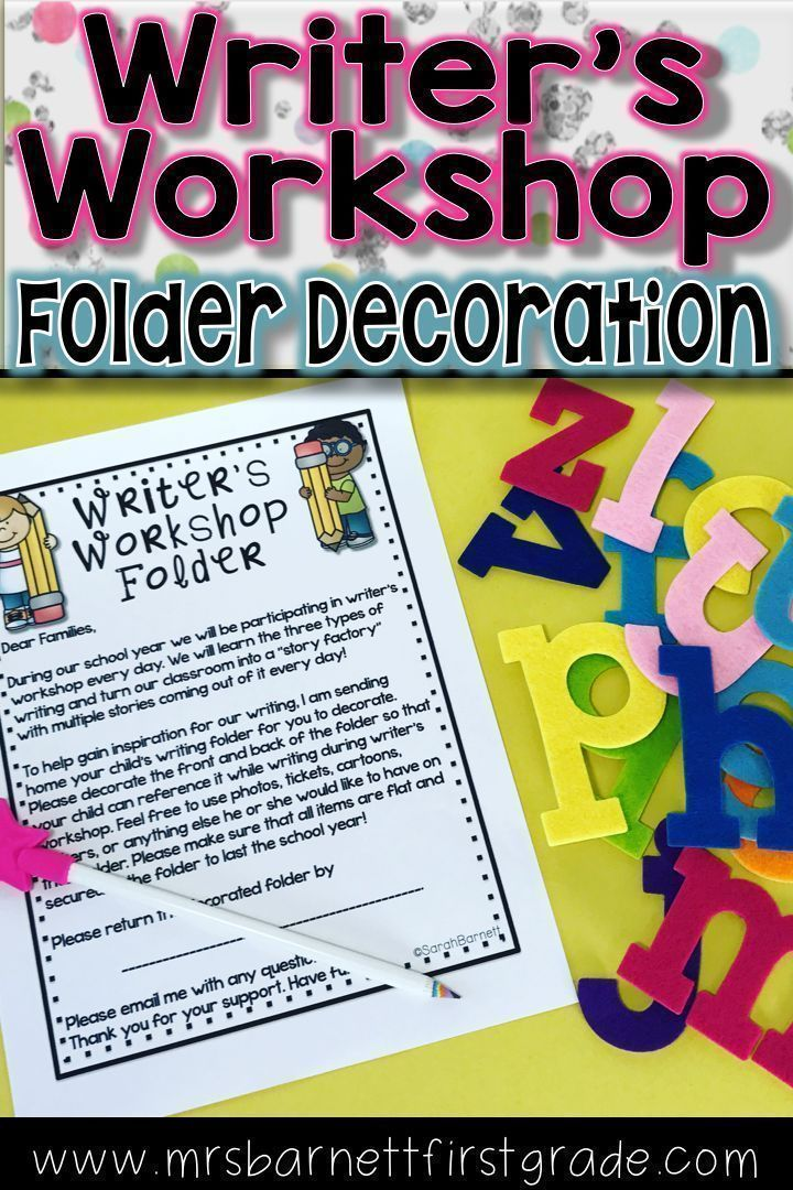 Have your students ever struggled for topics to write about during Writers Workshop? This idea will help! Choose between two letters to send home to parents asking to decorate a writers workshop folder.