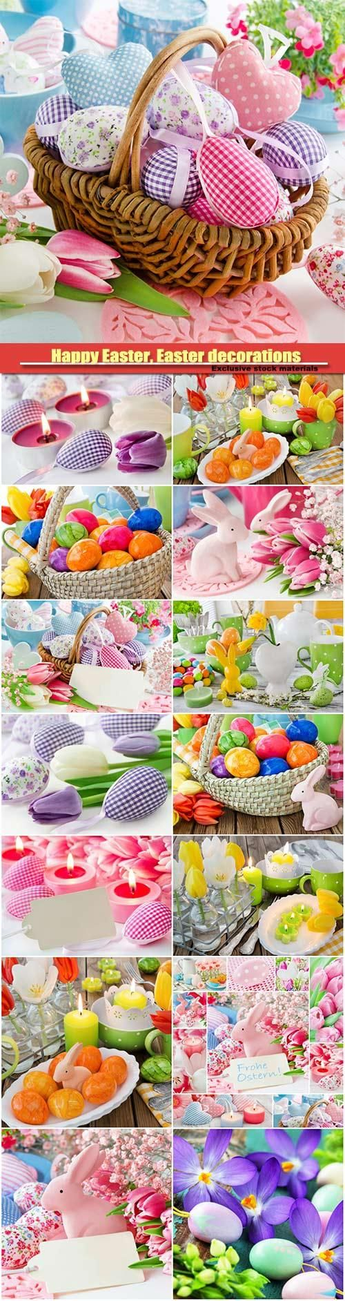 Happy Easter, Easter decorations, Easter eggs, Easter bunny