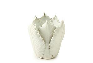 Leaf Ceramic Tea Light Holder, White