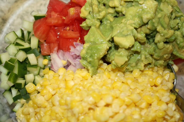 avocado-corn-cilantro salad. | Favorite Recipes | Pinterest