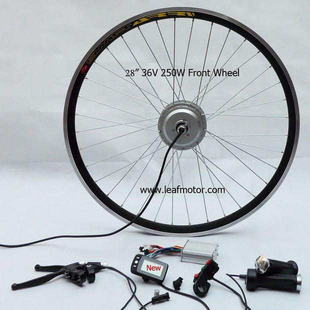 FORAN: Et ferdig sett med alt du trenger til forhjulsdrift. (Foto: Leafmotor.com)