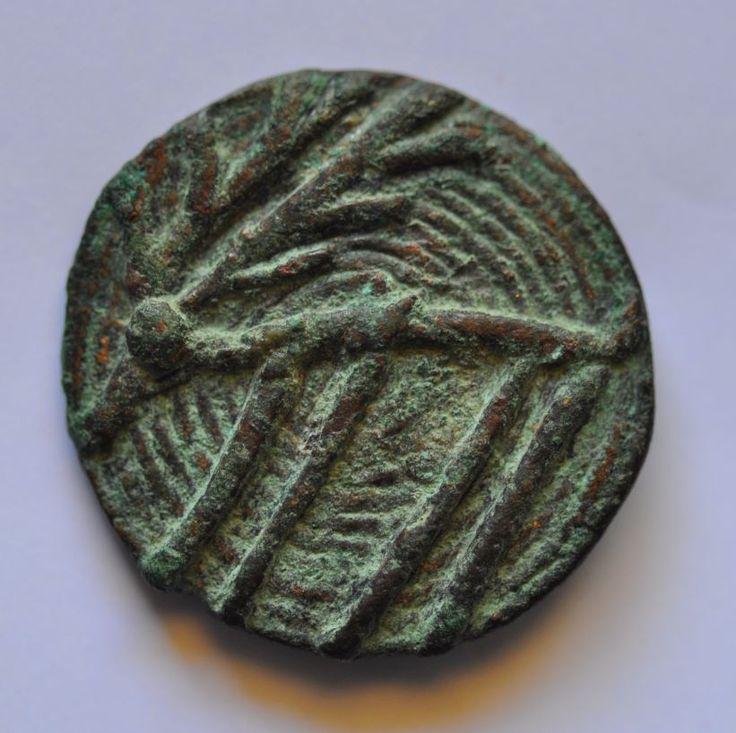 Hirsch on Amlash bronze ring with figurines 51, 1st millenium B.C. 2.5 cm diameter bezel, 1.9 cm max diameter ring size, 11.3 gr weight. Private collection