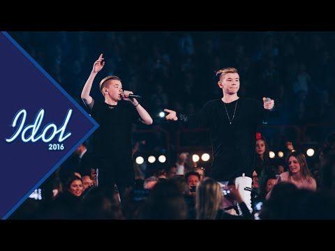 Marcus och Martinus framträder under Idolfinalen 2016 - Idol Sverige (TV4)