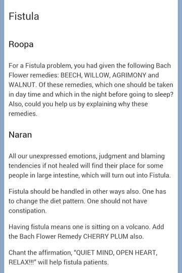 For Fissures & Fistulas