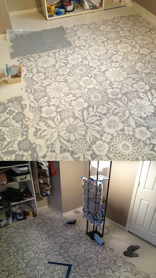 Tips on painting a concrete floor stencils tutorials for How to paint concrete floors