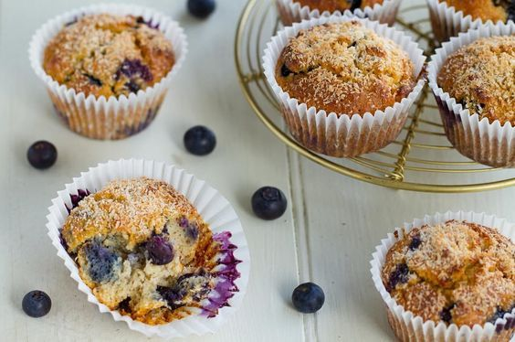 Treat yourself with a coconut and blueberry muffin! It's just one of the gluten-free combos you can learn to make in Rumbles' healthy cooking school.