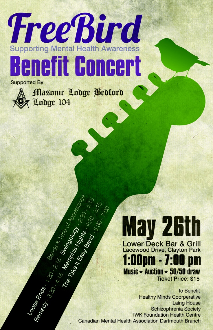 Free Bird Benefit Concert May 26th, 2013 1:00-7:00pm @ the Lower Deck #MHW