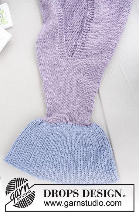 Cute Mermaid Blanket / DROPS Children 28-12 - Free knitting