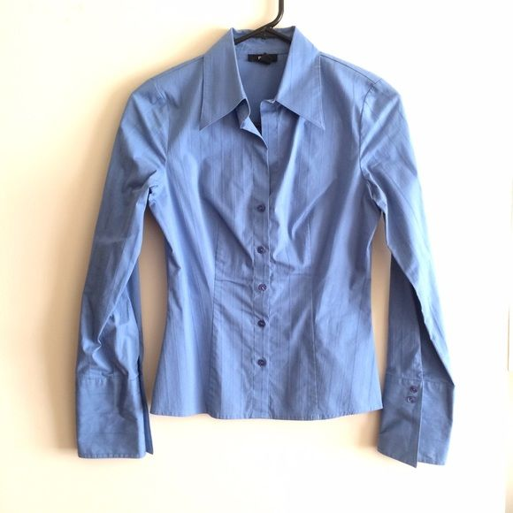 Blue button up shirt Blue button up shirt. Size S. Pre-loved in good condition. BCX Tops Button Down Shirts