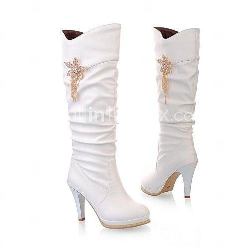 damesschoenen mode laarzen naaldhak knie hoge laarzen meer kleuren beschikbaar | LightInTheBox