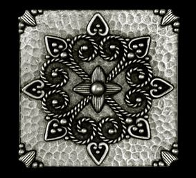 antiqued metal tile