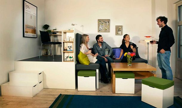 Compact living:: Matroshka - transforming home furniture ~ Great space-saving furniture for very small apartments.
