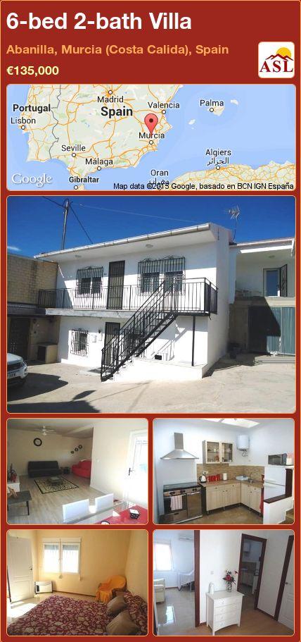 6-bed 2-bath Villa in Abanilla, Murcia (Costa Calida), Spain ►€135,000 #PropertyForSaleInSpain