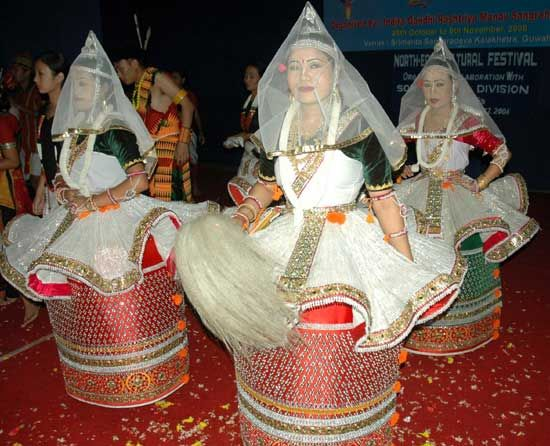 Manipuri dance is one of the major Indian classical dance forms. It originates from Manipur, a state in north-eastern India on the border with Burma.