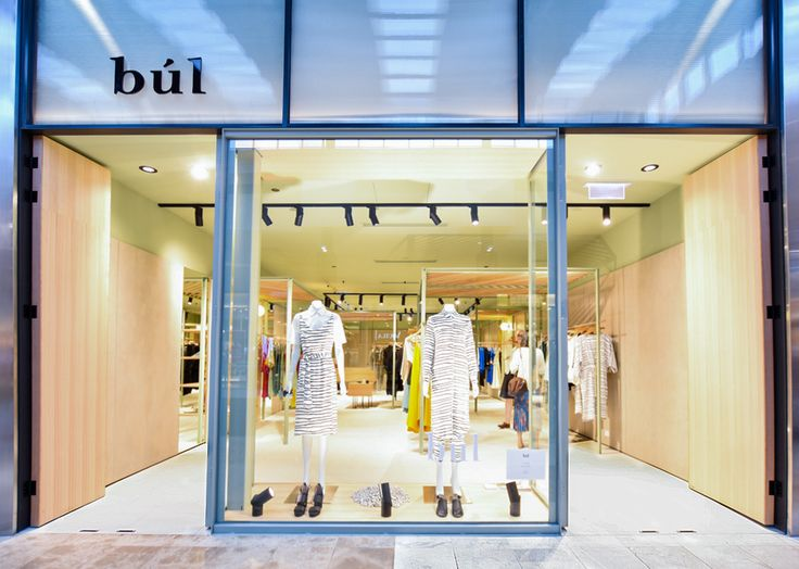 The entrance to the new Bul Clothing store at Doncaster Shoppingtown, lit by Sphera Lighting #elle #Olamp #novodownlight #karenabernethyarchitects