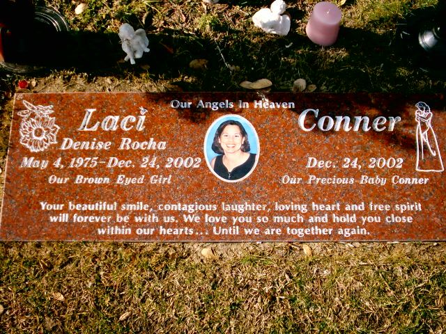 "Grave Marker- (""LACI PETERSON"") Murder Victim. She was an American woman who was…"