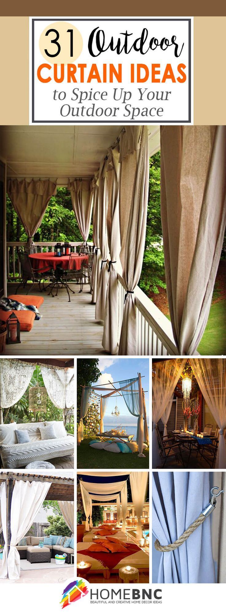 Sheer outdoor curtains - 31 Stylish Outdoor Curtain Ideas To Spice Up Your Outdoor Space
