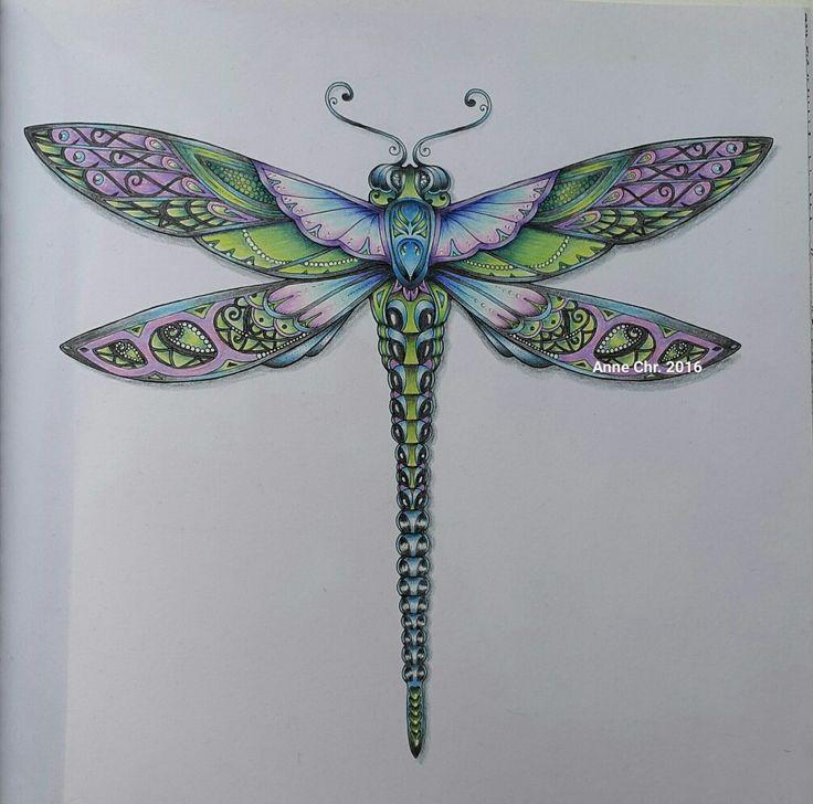 Johanna Basford, Enchanted forest. My choice of colours.