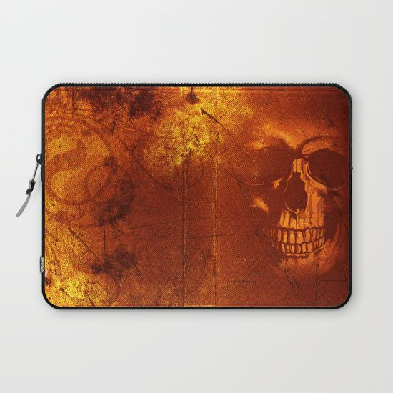 Fire Skull Laptop Sleeve  by Scar Design. Labor Day Sale: 20% Off + Free Worldwide Shipping on Everything Today!. Rebel Propaganda Poster Laptop Sleeve. #sales #save #discount #freeshipping #skull #fireskull #dark #skulllaptopcase #geek #laptopsleeve #nerd