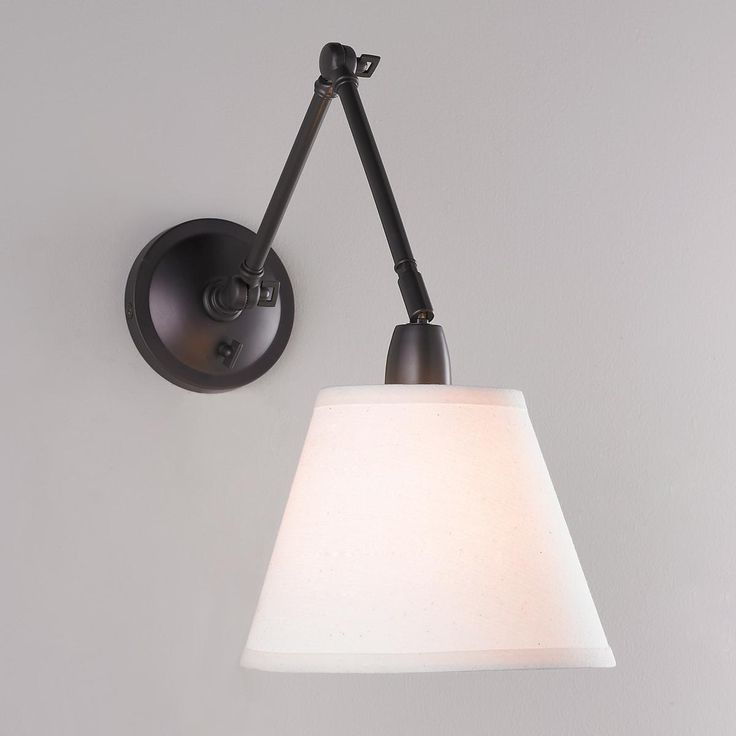 Wall Lamps With Reading Light : First Edition Adjustable Arm Reading Wall Lamp Reading wall