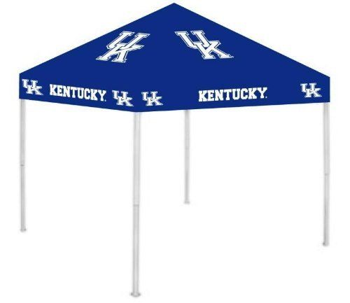 NCAA Kentucky Wildcats Canopy by Rivalry. $179.99. Multiple height adjustments. 6? clearance from valance to ground. Easy setup and take down. Includes carry bag and stakes. 9? x 9? dimensions. Stay cool and dry under the ultimate tailgate canopy. Durable water resistant 9ft x 9ft canopy with heavy duty steel frame and 420D polyester top is easy to set up and take down! The Rivalry canopy has multiple height adjustments and licensed logos on all four sides. Th...
