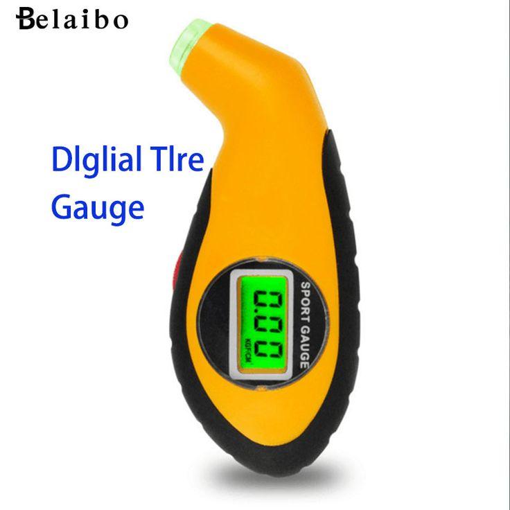 Venta caliente Nuevo 5.0-100PSI LCD Digital Del Neumático Del Neumático Gauge Tool Tester de Presión de Aire Para El Coche Auto Motocicleta PSI, KPA, BAR