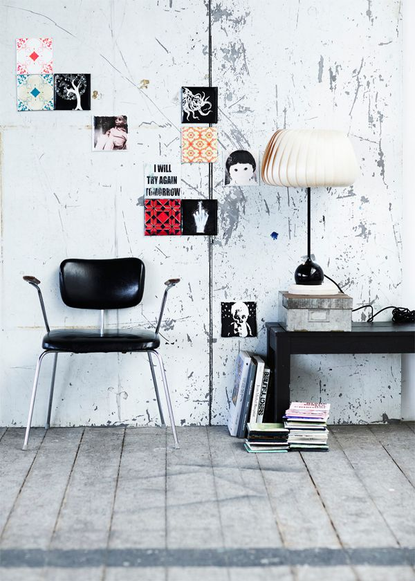 Interior design by ARTTILES. Arttiles canvas. Handmade artworks from varnished pieces of canvas to create the illusion of porcelainlike tiles on the wall. Flexible art, easy to hang with sticky fix. Design by danish artists Trine Galschiøt and Anette Nørmark.   www. arttiles.dk